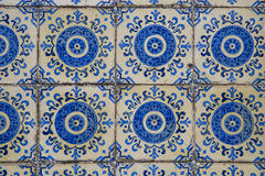 Detail of some typical portuguese tiles Royalty Free Stock Image