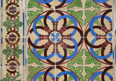 Detail of some typical portuguese tiles Stock Photo