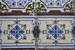 Detail of some typical portuguese tiles Stock Photos