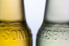 Detail of Somersby cider. Illustrative Editorial Royalty Free Stock Images