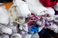 Detail of Sorted Socks. Pile of paired socks to put away Royalty Free Stock Photography