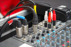 Detail of a sound mixer Stock Images