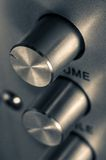 Detail of sound volume controls in vintage style Royalty Free Stock Photos