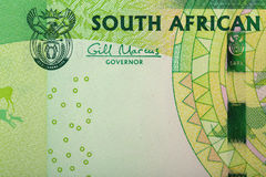 Detail of sout african rand Royalty Free Stock Photo