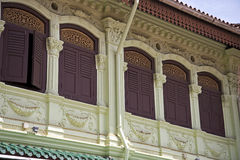 Detail of a southeast Asian Shophouse Stock Photos