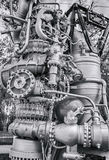 Detail of space rocket engine NK-33 by the Corporation Stock Photo