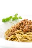 Detail of spaghetti bolognese Stock Photo