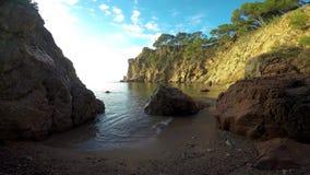 Detail of the Spanish coast Catalonia,Costa Brava stock video footage