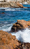 Detail of the Spanish coast Stock Image