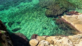 Detail of the Spanish coast stock video footage