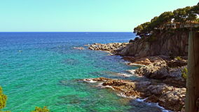 Detail of the Spanish coast stock footage