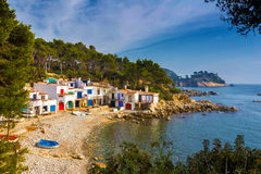 Detail of the Spanish coast Royalty Free Stock Images