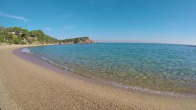Detail of the Spanish coast at summer Catalonia, Costa Brava stock video