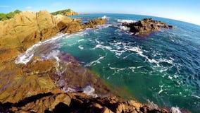 Detail of the Spanish coast at summer Catalonia,Costa Brava stock video footage