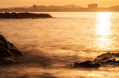 Detail of the Spanish coastal Royalty Free Stock Images