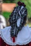 Detail of Spanish folk costume for women Stock Image