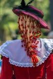 Detail of Spanish folk costume for women Royalty Free Stock Images