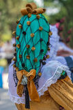 Detail of Spanish folk costume for women Royalty Free Stock Photography