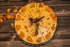 Detail on special designe for food. On plate Stock Images