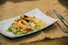 Detail on special designe for food on plate.  Stock Photography