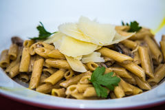 Detail on special designe for food on plate.Pasta.  Stock Photos