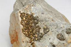 Iron pyrites from New Zealand Stock Photos