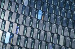 HARPA FACADE IN REYKJAVIK royalty free stock image