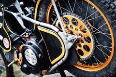 Detail of speedway motorbikes Royalty Free Stock Image