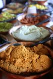 Detail of spices bowl in the marketplace Royalty Free Stock Photo