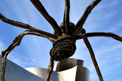 Detail of a spider scultpure in Bilbao, Spain Royalty Free Stock Photos