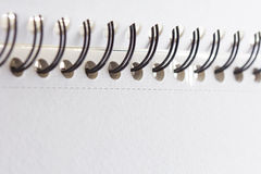 Detail spiral notebook close up Stock Photography