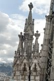 Detail on a spire on the National Basilica, Quito, Ecuador Royalty Free Stock Photo
