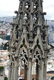 Detail on the spire on the National Basilica in Quito, Ecuador Royalty Free Stock Images