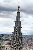 Detail on the spire on the National Basilica in Quito, Ecuador Stock Images