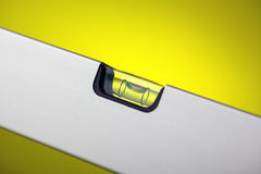 Detail of spirit level Royalty Free Stock Photo