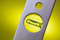 Detail of spirit level Royalty Free Stock Photos