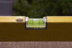 Detail of spirit level Stock Image