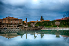 Detail Of Square Fountain Villa Lante Bagnaia Italy Stock Photography