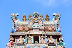 Detail of Sri Mariamman temple Royalty Free Stock Image
