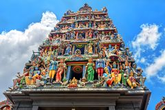 Sri Mariamman Temple in Singapore. Detail of Sri Mariamman Temple in Singapore. It is Singapore`s oldest Hindu temple Royalty Free Stock Images