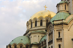 Detail of The St. Alexander Nevsky Cathedral Royalty Free Stock Photo