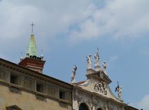 A detail of the St Cincent church in Vicenza Royalty Free Stock Photos