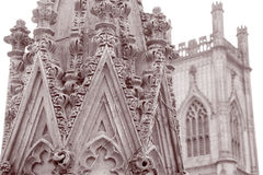 Detail on St Luke's Church Ruins, Liverpool Stock Photo