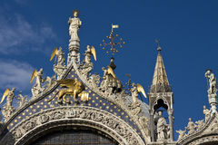 Detail of St Mark`s basilica Royalty Free Stock Photography