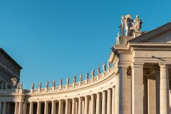 Detail of the St Peter`s Basilica in Vatican. royalty free stock photography