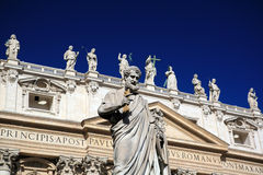 Detail of St. Peters Basilica Royalty Free Stock Photography