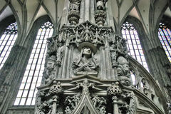 Detail of St. Stephen`s cathedral in Vienna Stock Image