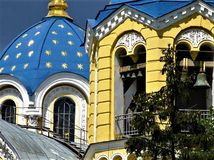 A detail of St Volodymyr Cathedral in Kiev, Ukraine stock photos
