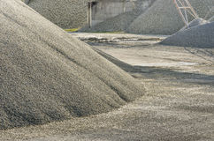 Gravel Quarry. Detail of a stack of gravel in an italian quarry Royalty Free Stock Image