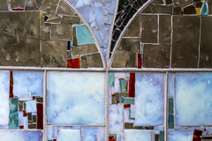 Detail of a Stained Colorful Window. Abstract Texture Background Stock Photos